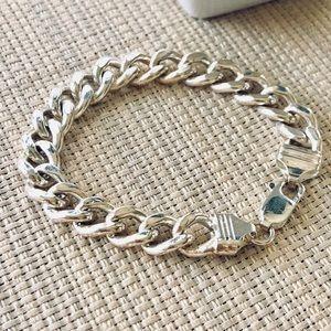 Jewelry - Sterling Silver Heavy Link Chain Bracelet